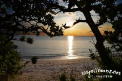 夕暮れ時のビーチ