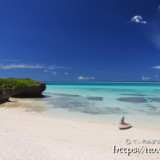 フナクスビーチとサンゴ礁の海