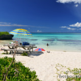 フナクスビーチと青い海
