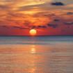 夕陽の風景