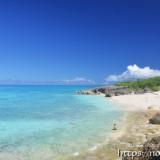 来間島の小さなビーチ