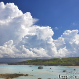 巨大な入道雲-シギラビーチ-