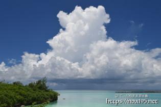 巨大な入道雲-パイナガマビーチ-