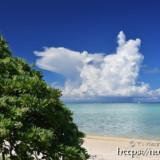 新城海岸と入道雲