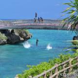 インギャー橋で遊ぶ島っ子たち