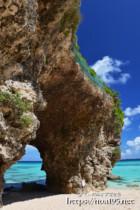 砂山ビーチの風洞(立入り禁止前)