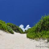 帰り道の砂山