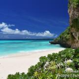はまゆうが咲くビーチ-砂山ビーチ-