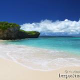 打ち寄せる波-砂山ビーチ-