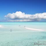 海の中にできた幻の島