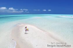 干潮時に現れる砂の道