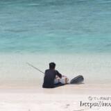 素潜り漁から帰った海人