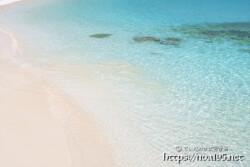 輝く波の波紋-渡口の浜-