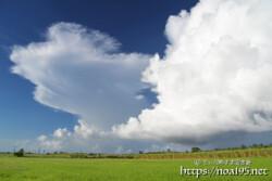 カタブリの雨を降らせる巨大な入道雲